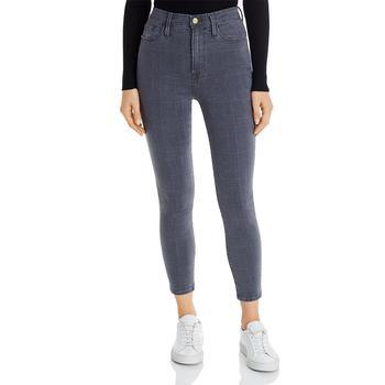 商品Frame Womens Ali Denim Cropped Cigarette Jeans图片