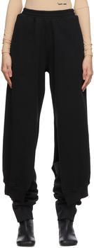 商品Black Slit Lounge Pants图片