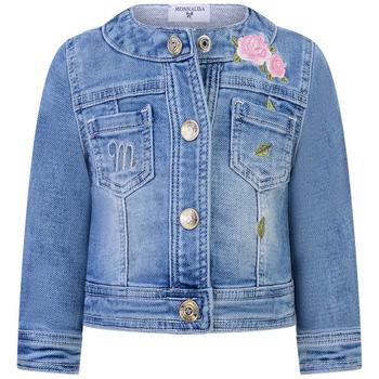 商品Baby Girls Jacket - Soft Denim Embroidered Jacket图片
