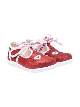 商品Monnalisa Glitter Red Ballet Flats图片
