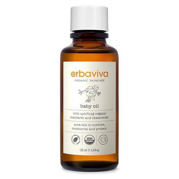 商品Erbaviva 有机婴儿油 婴儿抚触按摩油 4 液量盎司 图片