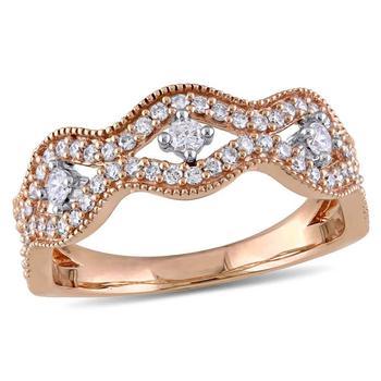 商品Laura Ashley 1/2 CT TW Diamond Fashion Ring - Size 7图片