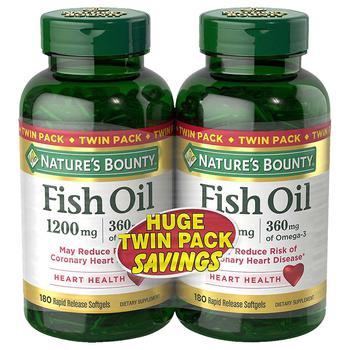 商品鱼油软胶囊2瓶装 1200 mg图片
