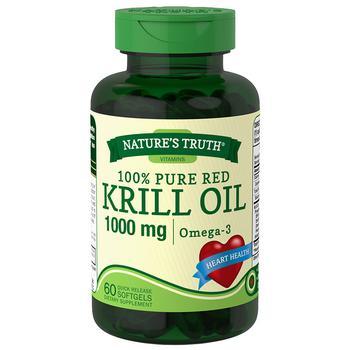 商品100% Pure Red Krill Oil 1000mg Omega-3图片