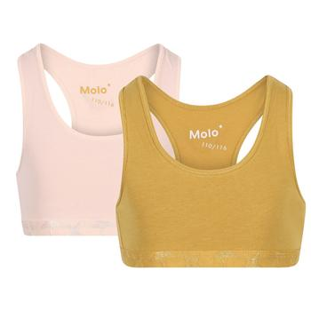 商品Bra tops in light pink and honey and white set图片