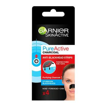 商品Garnier Pure Active Intensive Anti Blackhead Charcoal Nose Strips图片