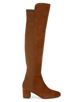 商品女款 Gillian 60系列 过膝麂皮长靴图片