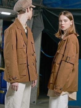 商品LE MANS SHORT TRENCH COAT (LIGHT BROWN)图片