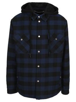 商品Off White Arrow Padded Flannel Shirt Jacket图片