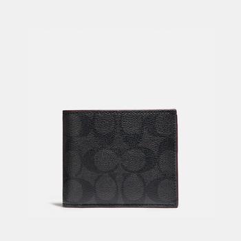 商品COACH Compact Id Wallet In Signature Canvas图片