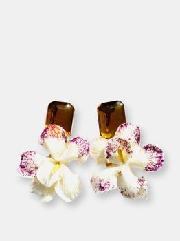 商品The Pink Reef Velvet Orchid with Citrine Top图片