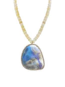 商品14K Gold & Boulder Opal Beaded Pendant Necklace图片
