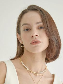 商品Persona Ball Beads Necklace (White Gold)图片