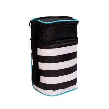 商品J.L. Childress 6 Bottle Cooler, Black Stripe图片