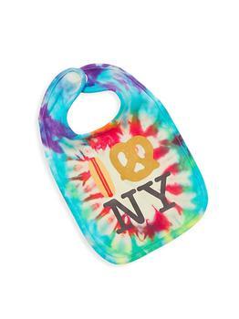 商品Baby's Tie-Dye Hot Dog Pretzel NY Bib图片