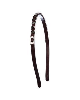 商品Salvatore Ferragamo Panelled Brass & Leather Headband图片