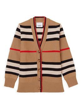 商品儿童条纹羊毛羊绒混纺针织开衫 (小童/大童)图片