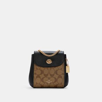 商品COACH Convertible Mini Backpack In Signature Canvas图片