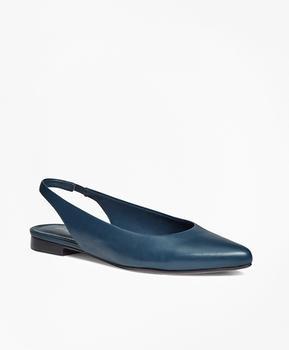 商品Leather Sling-Back Flats图片
