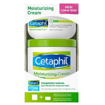 商品Cetaphil Moisturizing Cream for Very Dry, Sensitive Skin, Fragrance Free (20 oz. and 8.8 oz., 2 pk.)图片