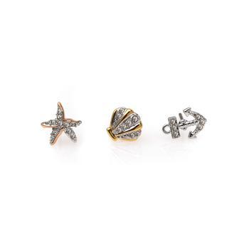 商品Swarovski Ocean Mixed Metal  Light Multi Colored Crystal Earrings 5462582图片