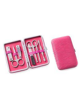 商品9-Piece Suede & Stainless Steel Manicure Set图片