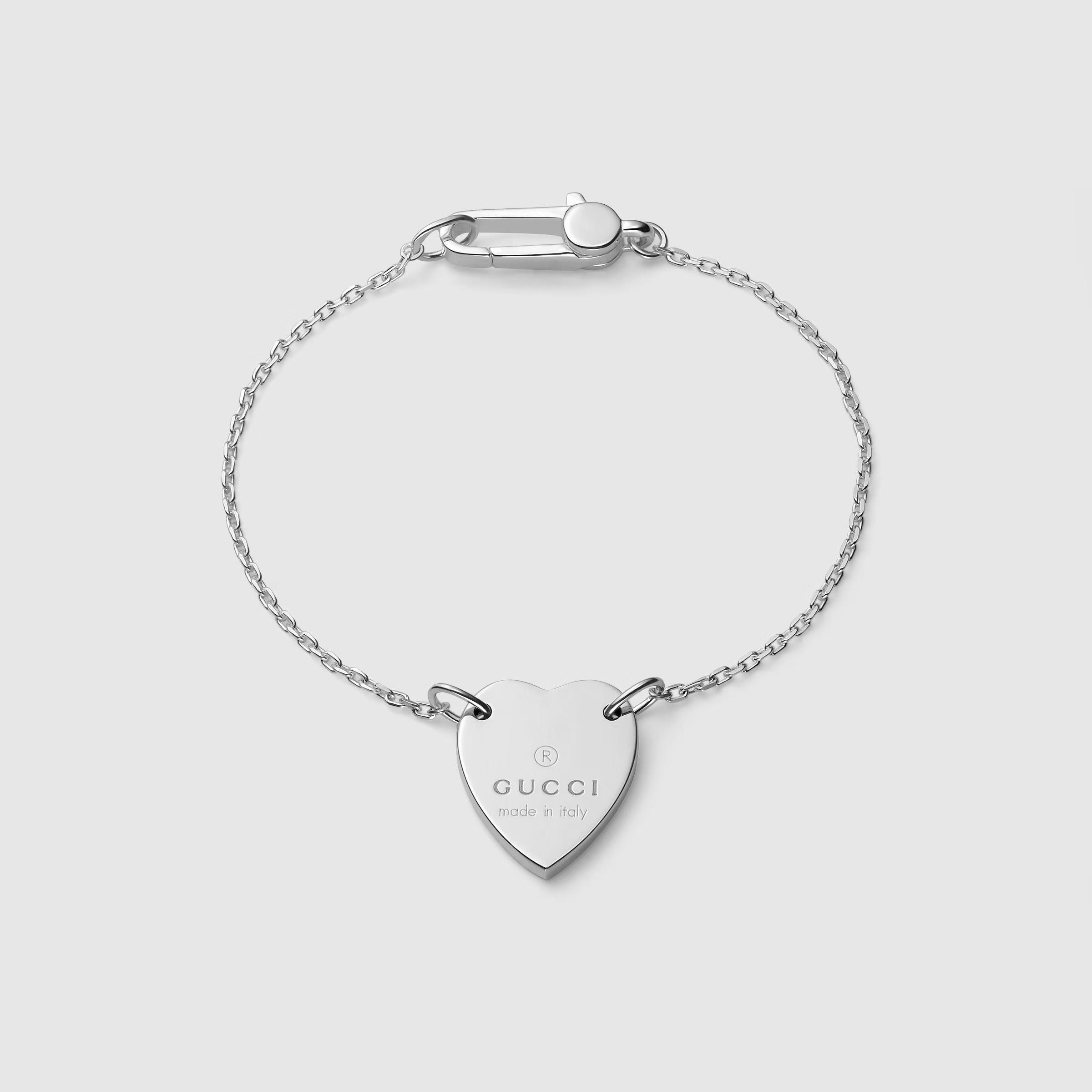 商品Heart bracelet with Gucci trademark  YBA223513001017|包邮【Z洛杉矶直发】图片