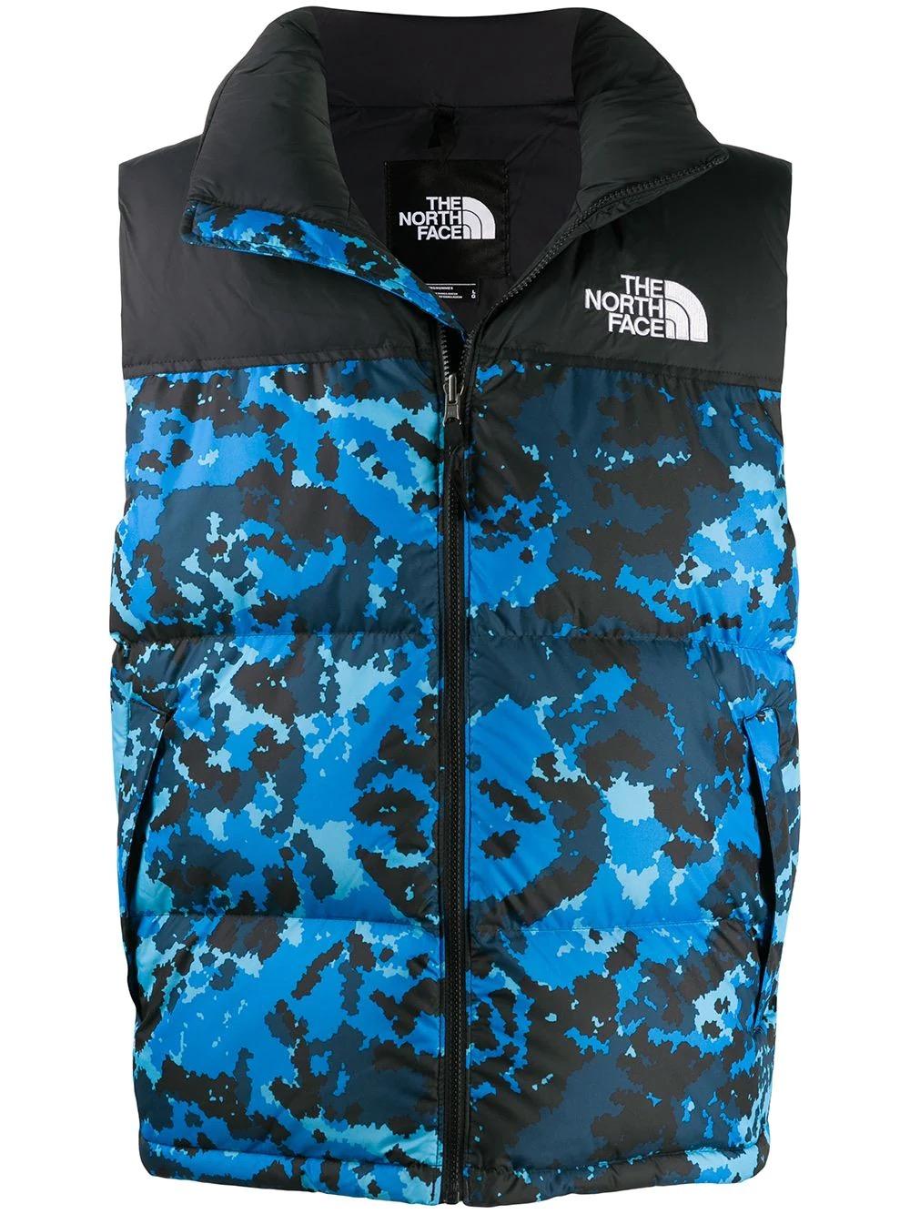 商品The North Face camouflage-print puffer gilet NF0A3JQQTPZ【Z洛杉矶直发】图片