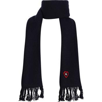 商品Girls heart patch scarf in navy图片