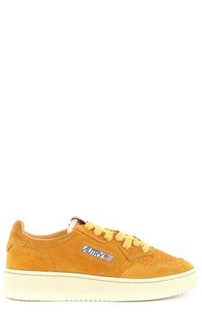 商品Autry Logo Patch Low-Top Sneakers - IT35 / Orange图片