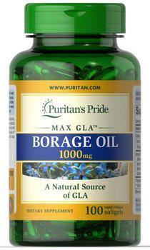 商品Borage Oil 1000 mg 100 Softgels图片