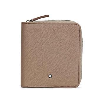 商品Montblanc Meisterstuck Beige Soft Grain Leather 4CC Wallet & Coin Case 111217图片