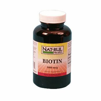 商品Natrul Health Biotin 5000Mg Capsules - 100 Ea图片