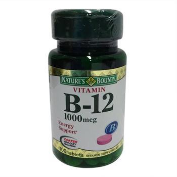 商品Vitamin B-12 1000 Mcg Tablets, By Natures Bounty - 100 Tablets图片