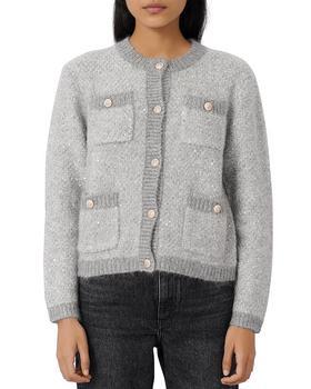 商品女士 Maje Morning 亮丝针织开衫外套图片