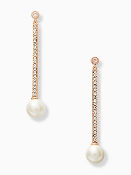 商品precious pearls linear earrings图片