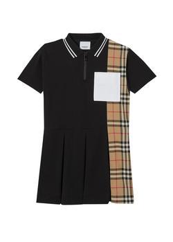 商品Vintage check panel cotton pique polo shirt dress图片