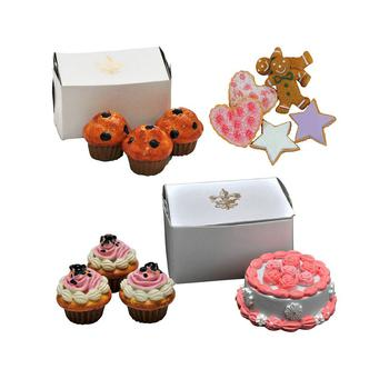"""商品American Bakery Collection Party Food Set Of Cookies, Large Cupcakes, Chocolate Donuts, And A Party Cake, Fits 18"""" Girl Dolls图片"""