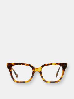 商品Frankie Amber Tortoise Blue Light Blocking Glasses图片