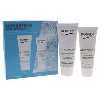 商品Lait Corporel Hydrating Body Program by Biotherm for Women - 2 Pc Kit 2.53oz Lait De Douche, 3.38oz Lait Corporel图片