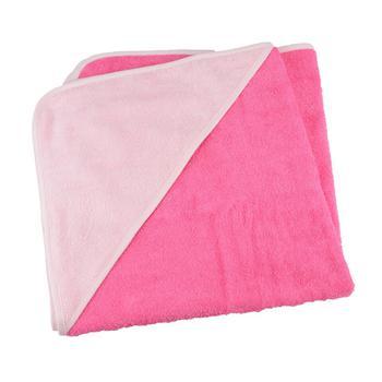 商品A&R Towels Baby/Toddler Babiezz Medium Hooded Towel (Pink/Light Pink) (One Size)图片