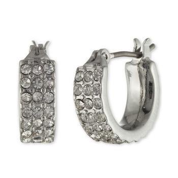 商品Pavé Huggie Hoop Earrings图片
