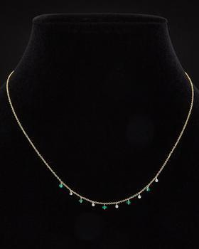 商品Meira T 14K Diamond & Emerald Necklace图片