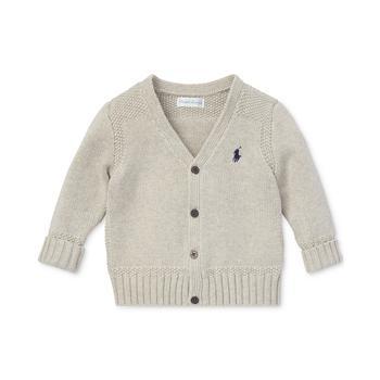 商品男婴纯棉V领针织开衫图片