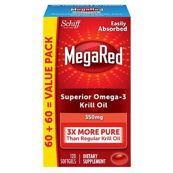 商品磷虾油欧米伽软胶囊 虾青素 350mg 120粒图片