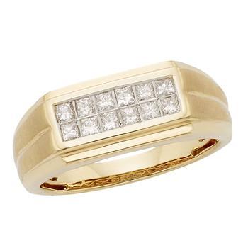 商品CYA K Certified Diamond Mens Ring .50ct 14k Yellow Gold R123920Y-9 Size 9图片