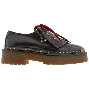 商品Burberry Two Tone Brogue Leather Bissett Fringe Detail Lace Up Platform, Brand Size 39W ( US Size 9 )图片