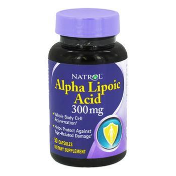 商品Natrol Alpha Lipoic Acid 300 Mg Capsules For Age Related Damage, 50 Ea图片