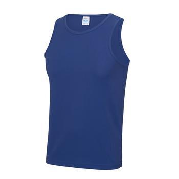 商品Just Cool Mens Sports Gym Plain Tank/Vest Top (Royal Blue)图片