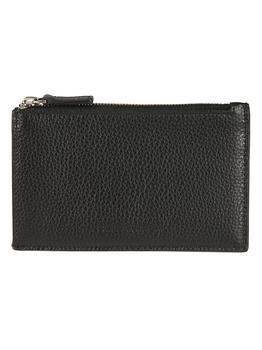 商品Balenciaga Grained Leather Top Zipped Card Holder图片